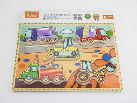 Развивающие и обучающие игрушки «Viga Toys» (56439) рамка-вкладыш Спецмашины, фото 2
