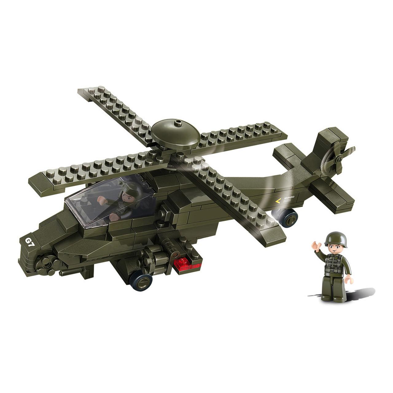 Конструктор «Sluban» (M38-B0298) вертолёт, 199 элементов