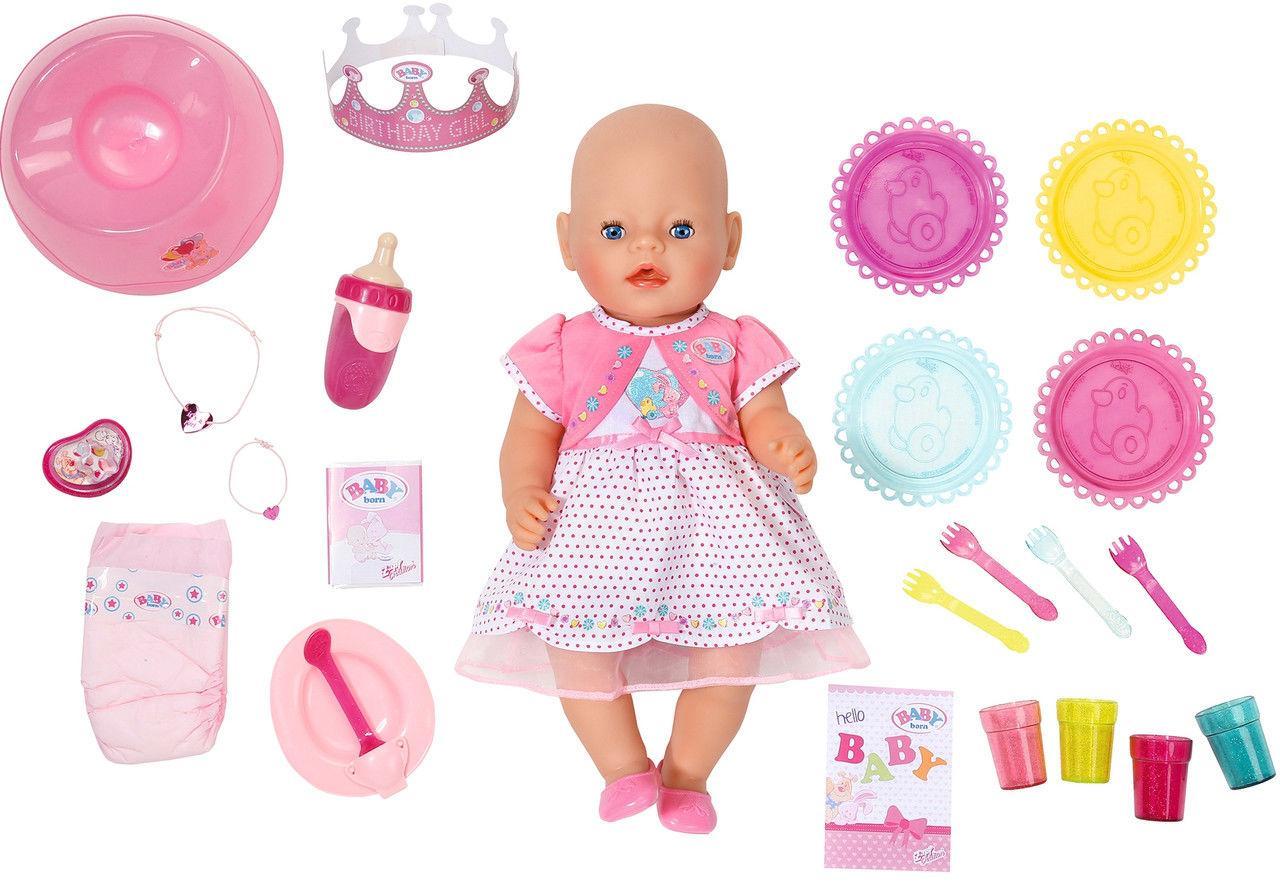 """Куклы и пупсы «BABY born» (822036) интерактивный пупс """"С Днём Рождения"""" с аксессуарами, 43 см"""