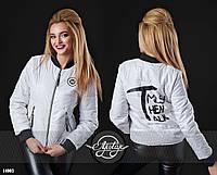 Куртка леттерман женская демисезонная - 14003