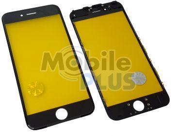 Стекло для переклейки дисплея Apple iPhone 6S c пластиковой рамкой Black