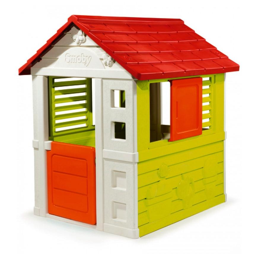 """Игровые площадки «Smoby» (310069) домик дачный """"Nature"""" с раздвижными ставнями"""