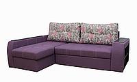 Угловой диван Garnitur.plus Барон сиреневый 250 см