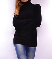 Теплый свитер из шерсти мериноса, черный