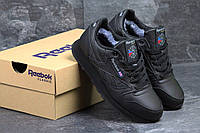 Женские кроссовки Reebok Classic, с мехом, черные