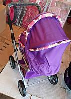 Коляска для кукол Melogo 9346 Трансформер. С люлькой-переноской. Фиолетовая