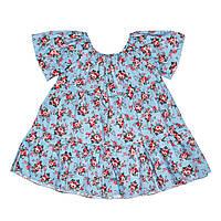 Платье Andriana Kids голубое в цветочки 6,9,12 мес