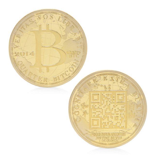 Монета Биткоин сувенирная для коллекции