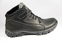 Мужские ботинки из натуральной кожи и меха BF025B