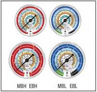 "Манометр φ 80mm, 1/4""NPT    EBL   Mastercool"