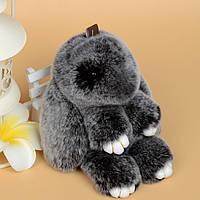 Заяц-брелок биколор: Темно-Серый
