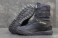 Ботинки женские Adidas Terrex, темно-синие, с мехом