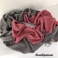 Палантин, шарф пудрово-серый, натуральная пашмина