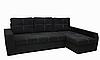 Угловой диван Garnitur.plus Барон черный 250 см