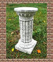 Декоративная колонна 45 см средняя (камень) подставка постамент стойка свадебная тумба Полистоун