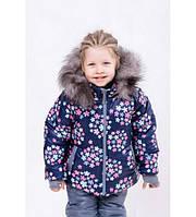 Детский зимний комбинезон для девочки Фиалка