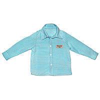 Рубашка Andriana Kids для мальчика голубого цвета 18М,24М,36М