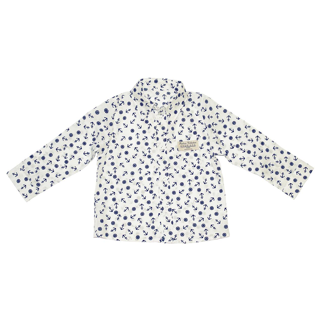 Дизайнерская рубашка 12 мес. Andriana Kids для мальчика