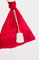 Мешок для подарков 50х60 см Красный