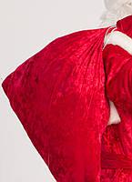 Мешок для подарков 75х100 см красный
