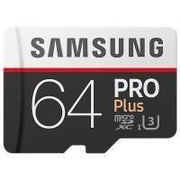 Карта памяти Samsung 64GB microSD class 10 PRO PLUS UHS-I G3 (MB-MD64GA/RU)