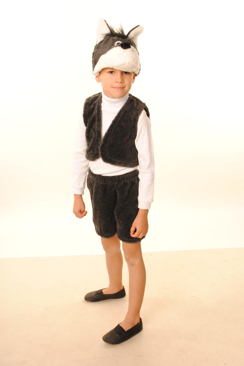 Детский карнавальный костюм Волк мех