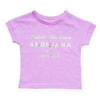 Футболка Andriana Kids для девочки, розовая на 1,5 года