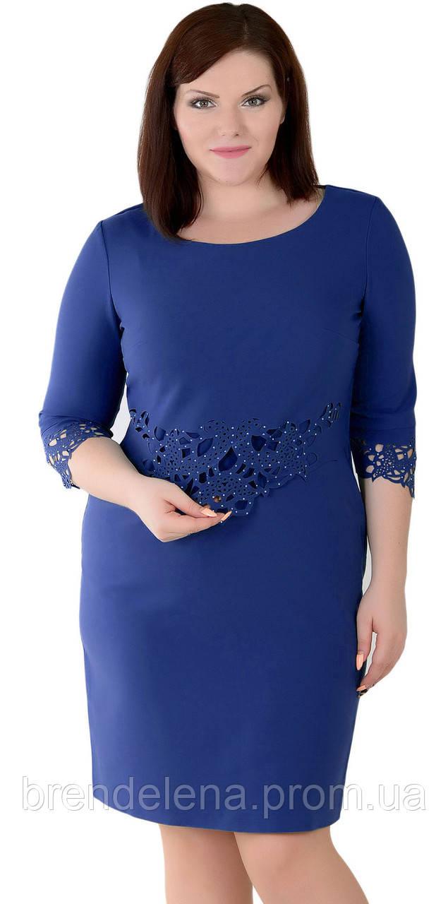Платье синее очень красивое  (р54 украина)