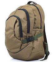 Стильный городской рюкзак три отдела хаки