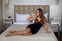 Женский шелковый пеньюар с вышивкой t-720015