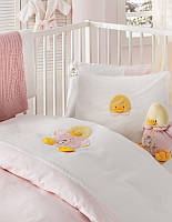 Набор в ванную комнату для младенцев Karaca Home Duck розовый