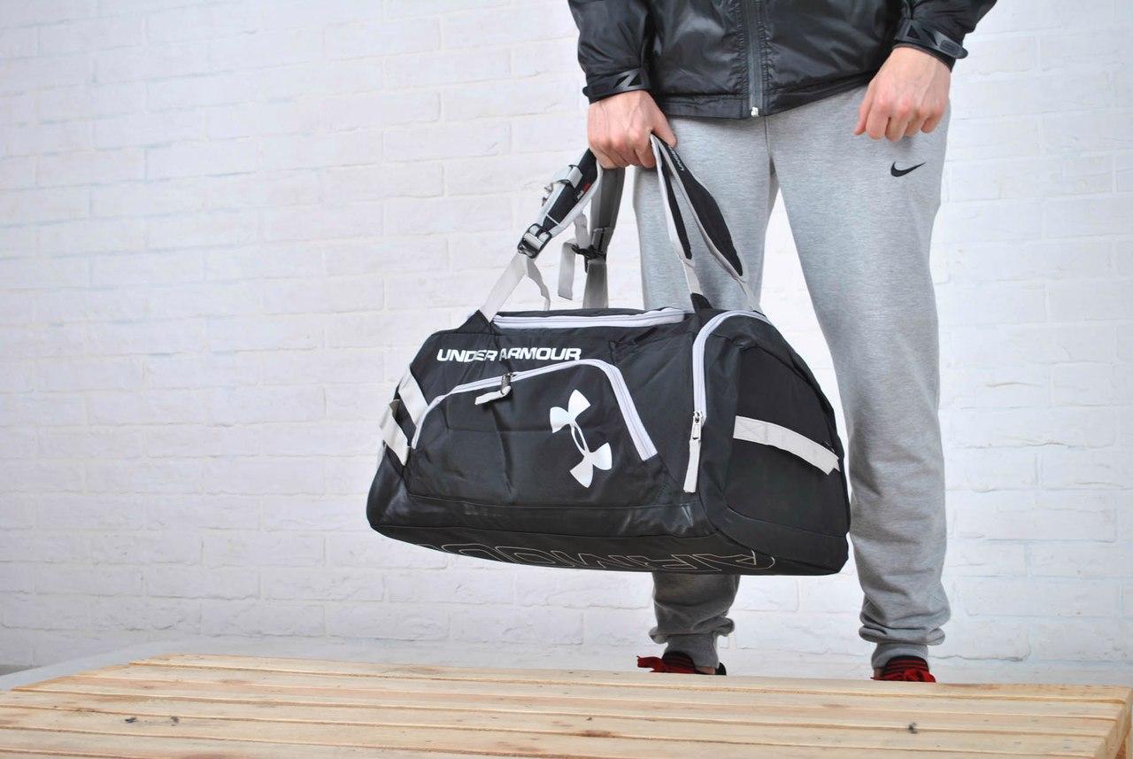 7260ff9d ... Аксессуары Киев · Сумки, чемоданы Киев. Спортивная Дорожная сумка-рюкзак  under armour, черная