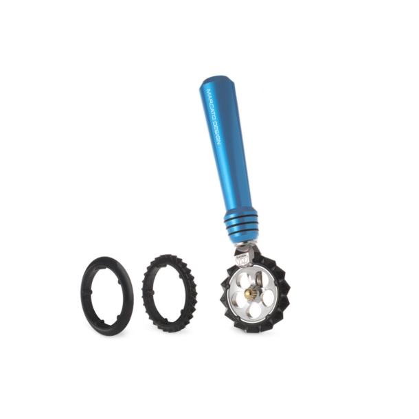 Marcato Pasta wheel Azzurro фигурный нож для теста, лапши, бирюзовый