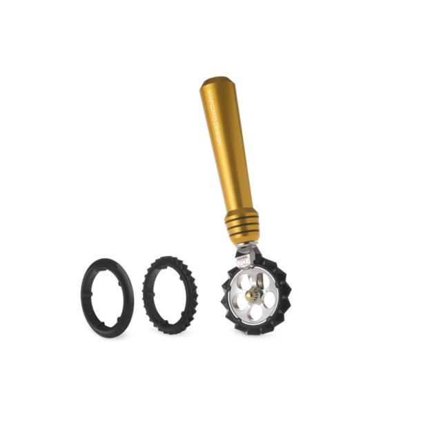 Marcato Pasta wheel Oro фигурный нож для теста, лапши, золотой
