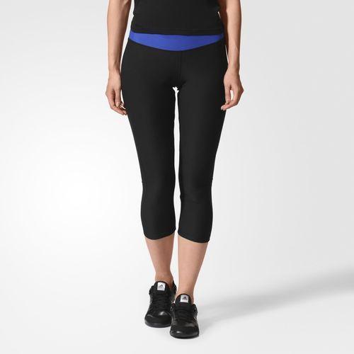 Леггинсы спортивные женские adidas ULT 34 AB7159 (черные, для тренировок на фитнес, эластичные, бренд адидас)