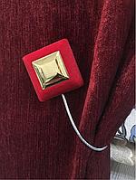 Магнитный подхват для штор красный