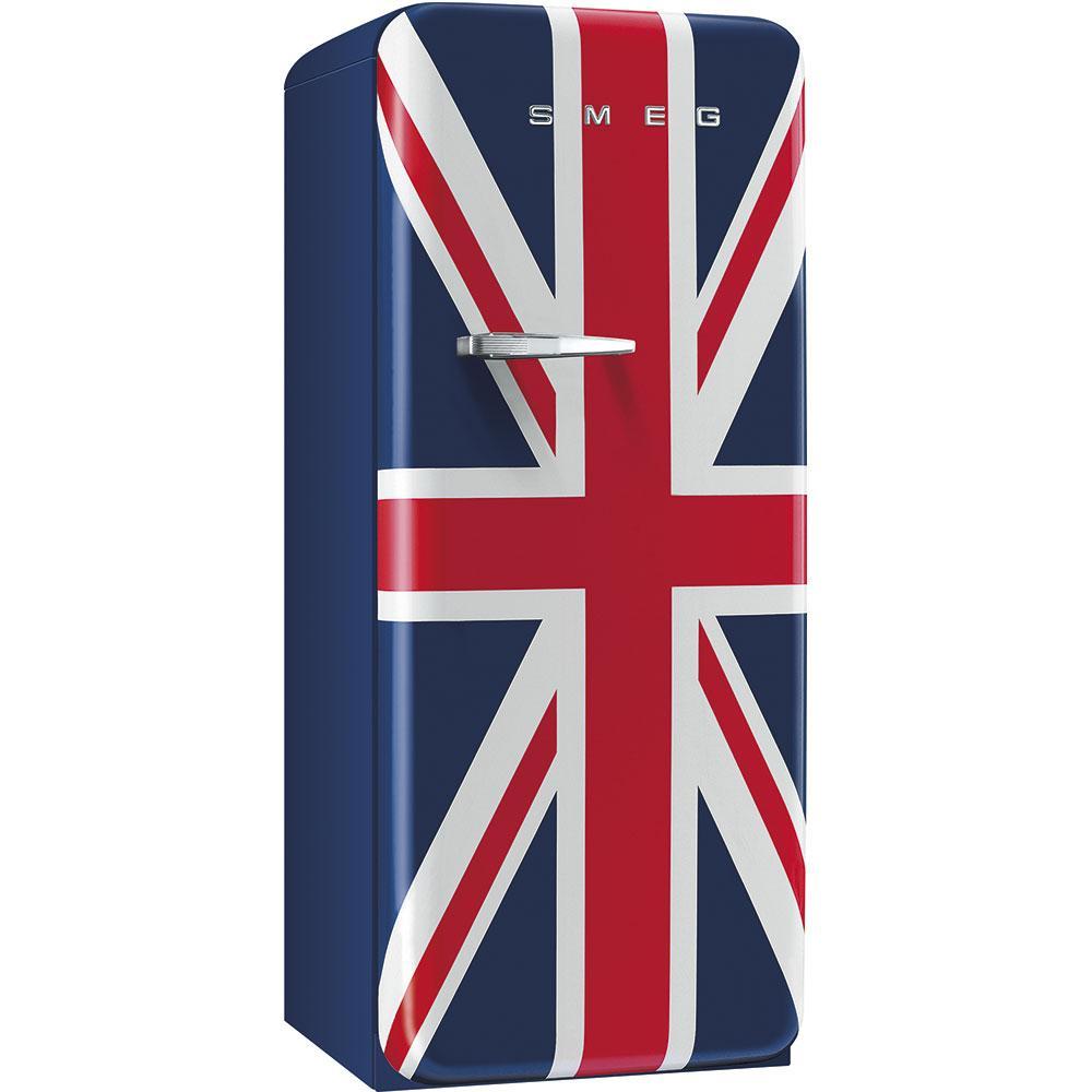 Отдельно стоящий однодверный холодильник, стиль 50-х годов Smeg FAB28RDUJ3 британский флаг