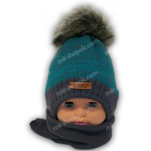 Комплект (шапка + шарф) для мальчика