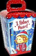 """Упаковка новогодняя """"Ліхтарик червоний"""" для сладостей 400-600 г"""