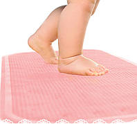 Антискользящий коврик на дно ванной для детей, розовый, Kinderenok XL, 71113-004