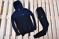 Спортивный костюм на флисе Nike (найк), мужской, синий