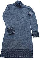 Платье  для девочки  7-10 лет,темно синее
