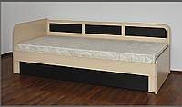 Односпальная кровать Летро Макс 80см х 200см светлый венге-тёмный венге