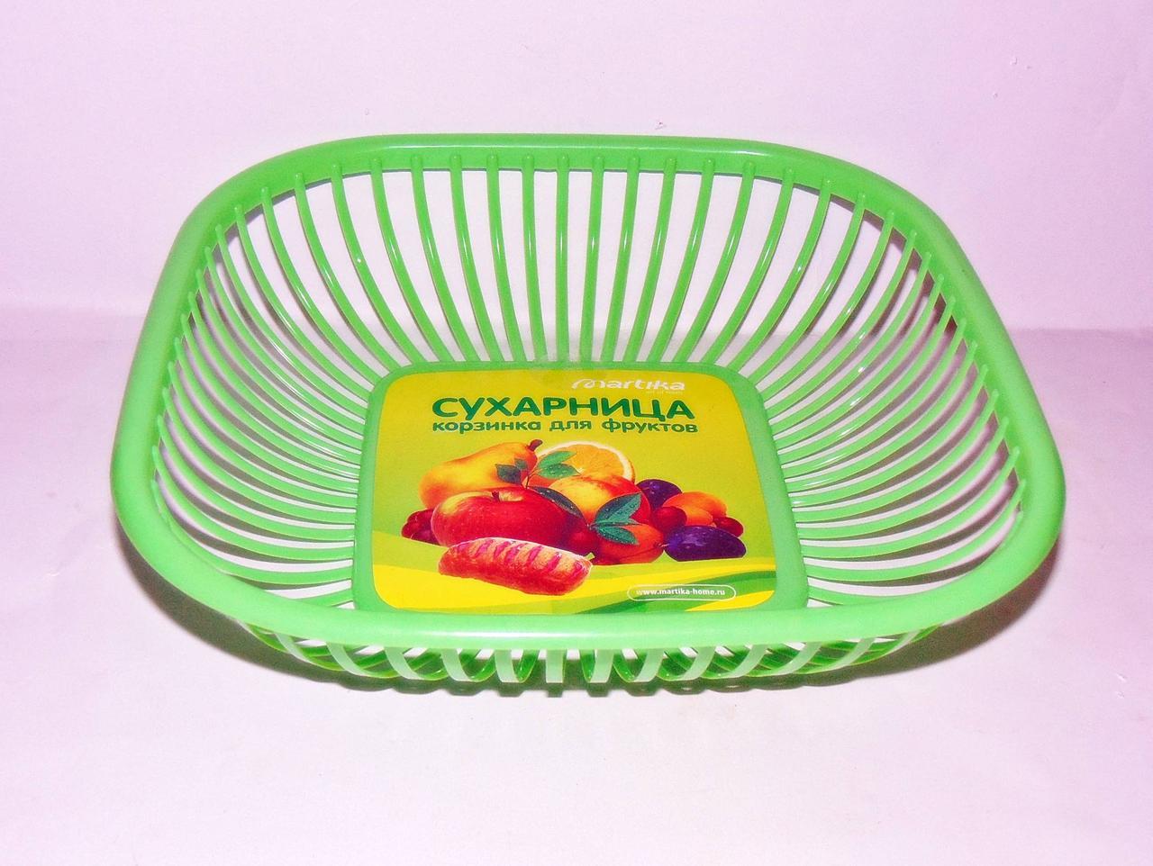 Сухарница пластиковая корзина для фруктов 28х28см