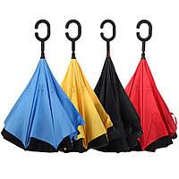 Ветрозащитный двойной зонт Up Brella обратного сложения