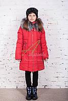 Удлиненное зимнее пальто для девочек от производителя - (модель рк-25)