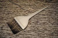 Кисть для окрашивания волос широкая серая