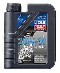 Мінеральне моторне масло для 4-тактних мотоциклів Motorbike 4T 20W-50 Street 1л