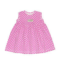 Платье розовое в белый горошек Andriana Kids 6,9,12 мес