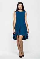 Расклешенное платье из крепа с ассиметричным воланом